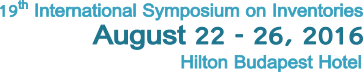 19th International Symposium on Inventories 22-26 August 2016Hilton Budapest Hotel*****